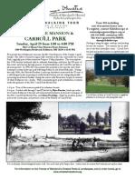 Spring 13 Carroll Park & Mansion Tour 4-28-13