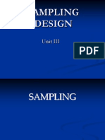 Sampling Design Lecture PPTs Unit III
