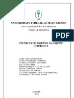 SEMINÁRIO TÉCNICAS DE ASSEPSIA NA EQUIPE CIRÚRGICA