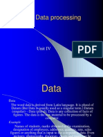 Processing & Data Analysis Lecture PPTs Unit IV