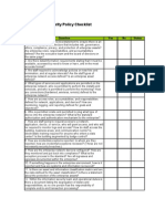 Information Security Policy Checklist