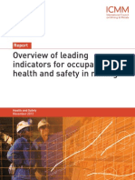 ICMM Overview of Leading Indicators for Occupation Health and Safety in Mining