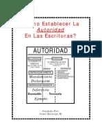 ¿CÓMO ESTABLECER LA AUTORIDAD EN LAS ESCRITURAS_Jaime Restrepo M.