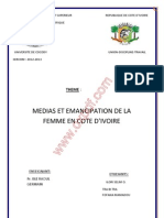 Media Et Emancipation de La Femme