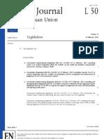 Amendment to the Brussels I Regulation