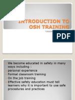 Introduction to Osh Training