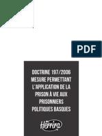 Dossier du collectif Herrira sur la doctrine 197/2006 et les prisonniers