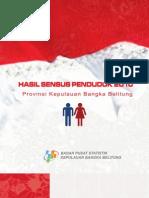 Boklet Hasil Sensus Penduduk 2010