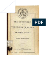 CONSTITUTION OF THE UNION OF BURMA (1947) EN