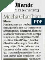 Macha Gharibian Le Monde