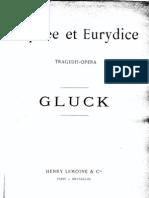 opera Orfeu - Gluck - score