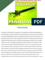Gilera Nexus 500 Mk1 Workshop Manual 2005 2010