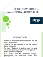 Presentation Study of New Town - Canberra, Australia.