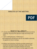 Minutes of the Meeting--- Technical Writing