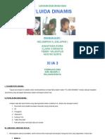 Laporan Percobaan Fisika, Fluida Dinamis Xi Ia 3 Kel. 8 Smada p. Raya Feb 2009