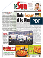 thesun 2009-02-26 page01 ruler leaves it to khalid