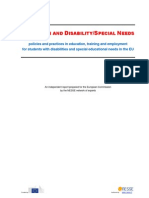 Education and Disability- Special Needs 2012