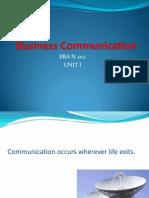 Business Communication Lecture PPTs Unit-1