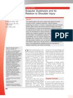 Scapular Dyskinesis and Its Relation to Shoulder Injury