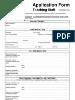 Application Form Teaching