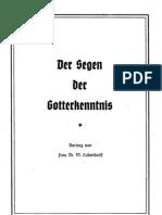 Ludendorff, Mathilde - Der Segen Der Gotterkenntnis, Ludendorffs Verlag