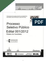 Edital 01-2012 - Prominp 6o Ciclo