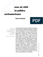 Las elecciones de 2004 y la opinión pública - N Chomsky