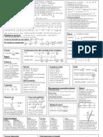 Formule Matematice Cls. v - VIII in Doua Pagini