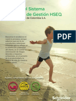 56061123 Manual Del Sistema Integrado de Gestion HSEQ Schneider Electric de Colombia S A