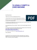 Hacking a Coke Machine