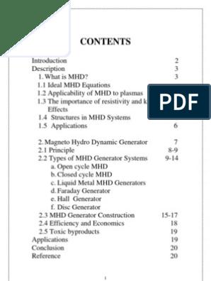 Magneto Hydro Dynamic | Magnetohydrodynamics | Electric