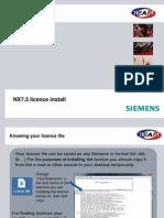 NX7.5 Licence Install
