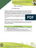 Actividad de Aprendizaje unidad 1, Estructuración del Marco Lógico