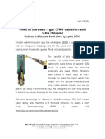 igus CFRIP cable for rapid cable stripping
