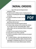 11 General Orders
