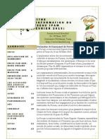 Lettre d'information du réseau IPAM, Février 2013