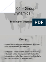 Unit 04 - Group Dynamics