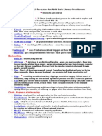 Adult Literacy Ed Web 20 Resources