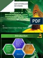 Adequacy of Environmental Legal Framework in Indian Tourism