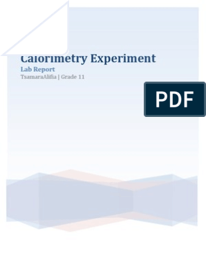 Calorimetry Experiment Lab Report | Sodium Hydroxide
