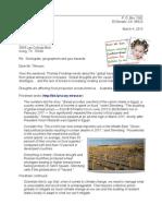 Letter to Rex Tillerson 13-03-04 food