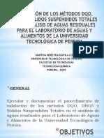 VALIDACIÓN DE LOS MÉTODOS DQO, DBO5 Y