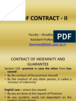 Law of Contract - II Guarantee