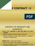 Law of Contract - II Guarantee