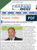 Antonio d'Alì senatore rieletto nel PdL