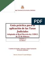 guía práctica para la aplicación de las Tasas Judiciales