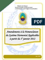 amendements Douane Algérienne - 2012