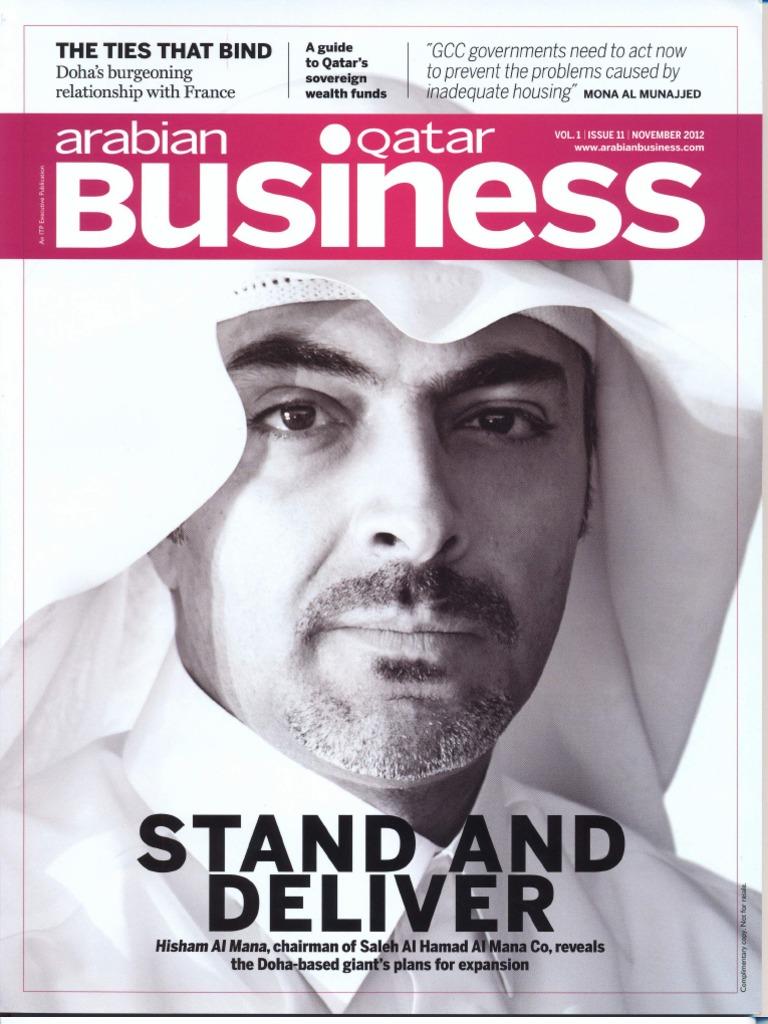 Mr  Hisham Al Mana - Arabian Business Qatar