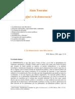 Touraine, Alain - Que Es La Democracia