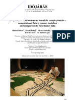Air quality around motorway tunnels in complex terrain - Computational Fluid Dynamics modeling and comparison to wind tunnel data